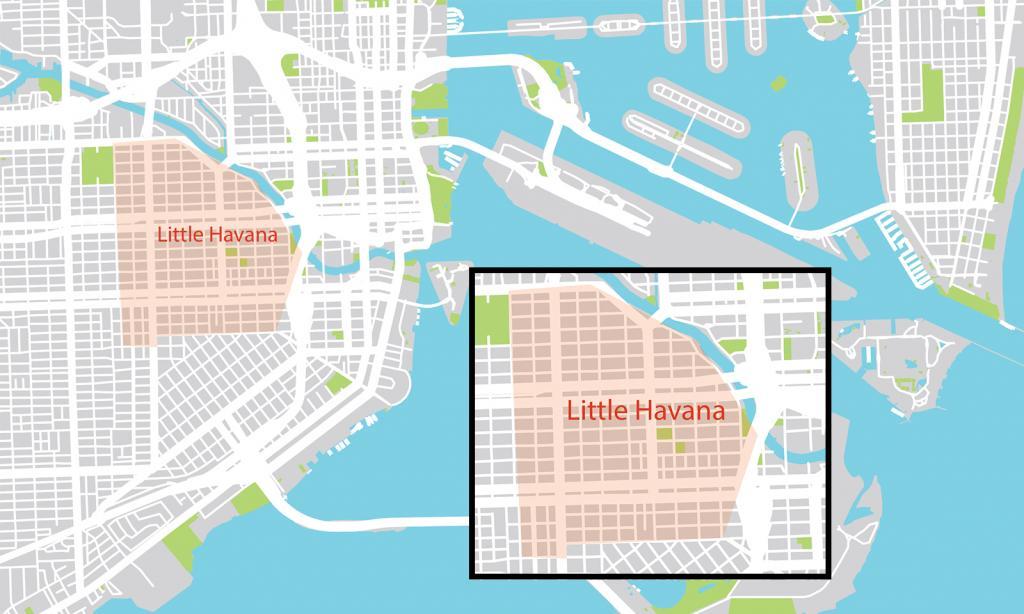 Little Havana em Miami mapa